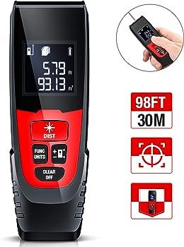 Beboncool 98Ft M/in/Ft Digital Laser Tape Measure