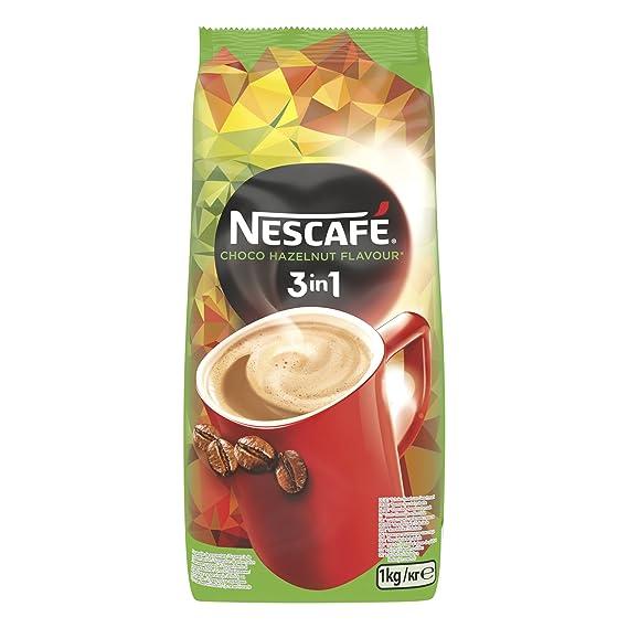 NESCAFÉ 3 en 1 -Café Soluble con Leche, Azúcar y Sabor Choco Avellana -