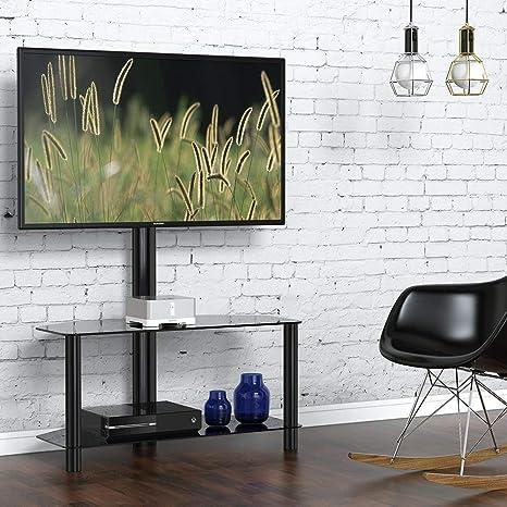 FITUEYES Supporto TV, Supporto porta TV, Girevole, 2 Ripiani ...