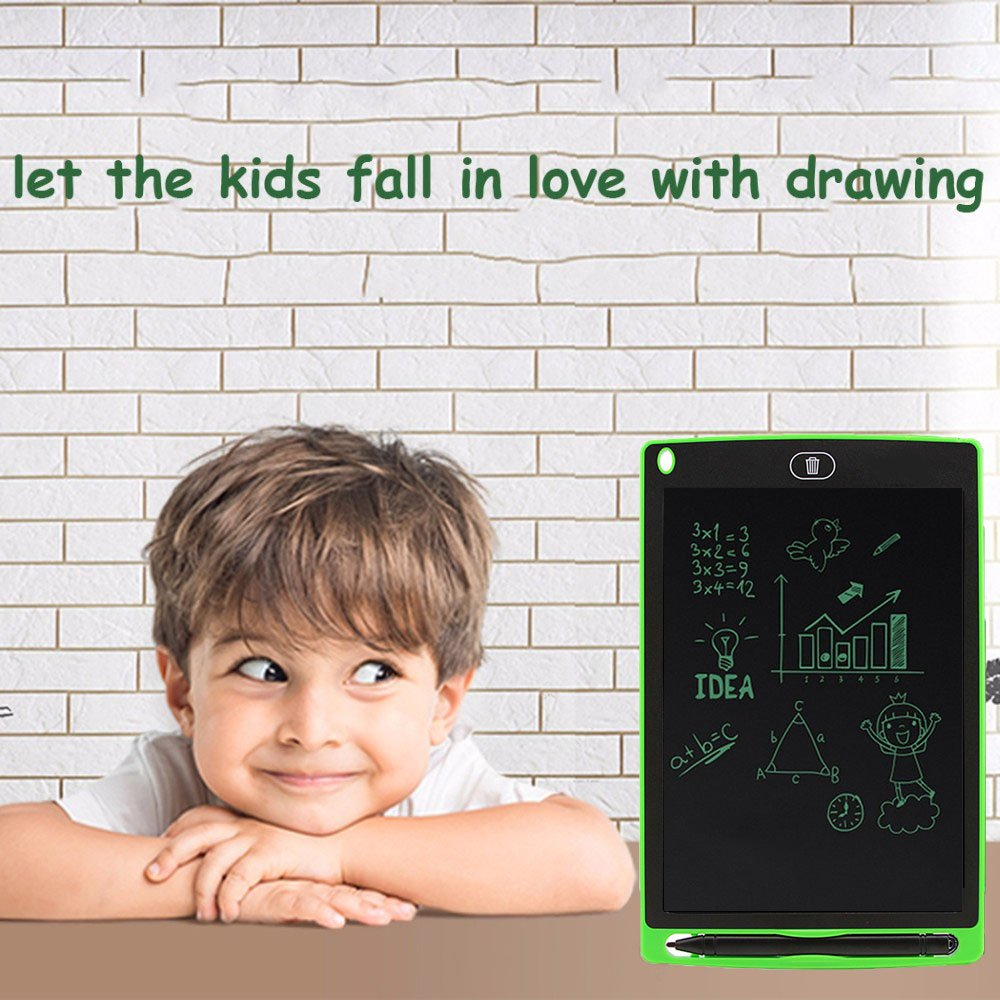 inDigi 8.5-inch Electronic LCD Writing Tablet Doodle Pad Kids One Click to Erase Writing Sketch Board Learning Toys Drawing Writing Board Learning Toy Perfect for Kids by inDigi (Image #4)