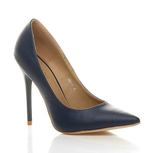 Femmes talon haut fête élégante escarpins chaussures pointue taille 3 36 9260df266b63
