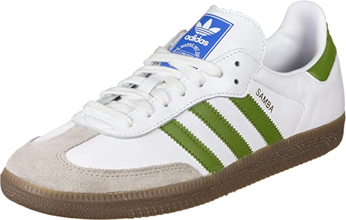 adidas Samba OG Damen herren Unisex weiß mit grünen Streifen