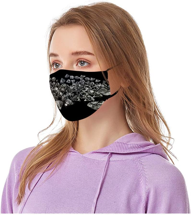 Anti-Haze Dust for Adults Indoors and Outdoors 1 Pc Face Bandanas Cloth Covering for Face Reusable and Breathable