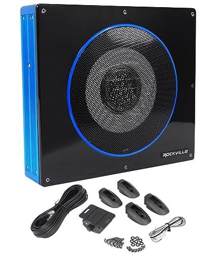 amazon com rockville rw8ca 8 600 watt low profile under seat rh amazon com