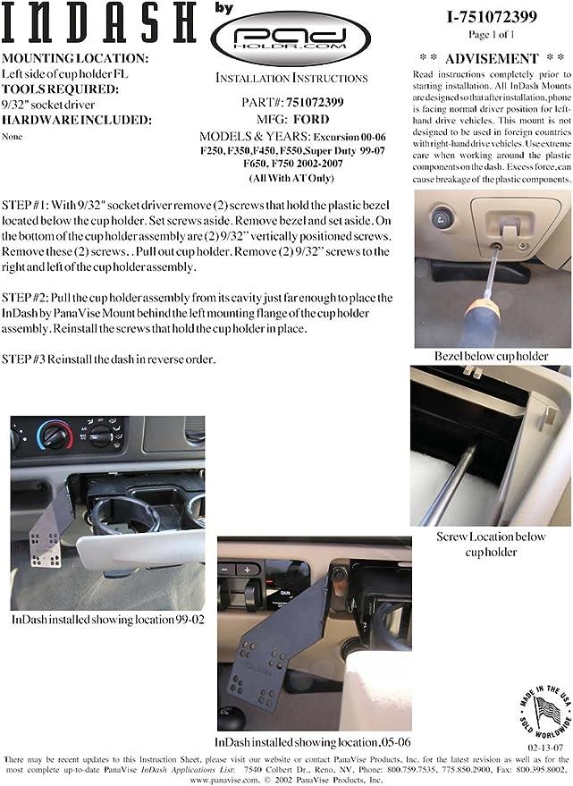 Padholdr Edge Series Premium Tablet Dash Kit for 2001-2004 Dodge Dakota P//U AT and Durango AT Pad Holdr PHE75105-201