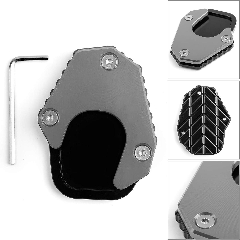 Artudatech 1X For HONDA CRF250 RALLY 17-18 Kickstand sidestand extension enlarger pad Gray