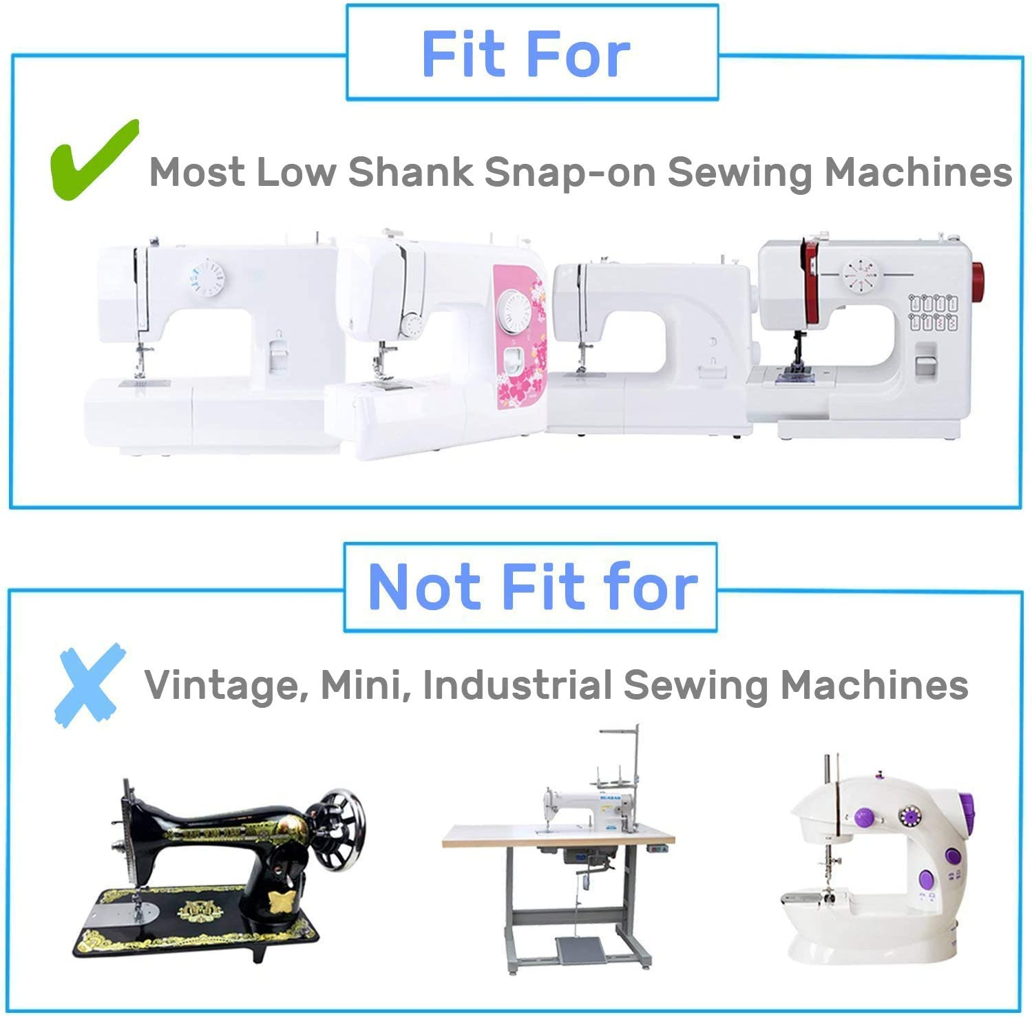 White Kalevel Gathering Shirring Foot Sewing Machine Presser Pressure Feet Foot Fits All Low Shank Singer New Home Elna and More Simplicity Janome Euro-Pro Juki Kenmore Brother Babylock