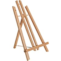 "US Art Supply 14 inch Tall Medium Tabletop Display A-Frame Easel (1-Each), Accommodates Canvas Art up to 12"" high"