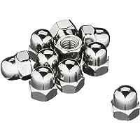 Zeskant-dopmoeren M8-roestvrij staal A2 DIN1587 dopmoer hoge vorm; 25 stuks