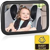 Espejo Retrovisor para Coche de Bebé, Espejo para Monitor de Bebé 360° Giratorio e Inclinable, Espejo de Coche para…