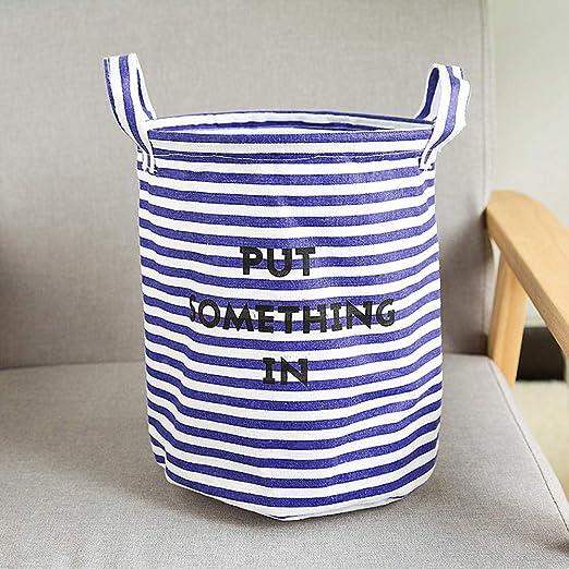 Linen Storage Bin Closet Toy Box Container Organizer Fabric Basket Holder