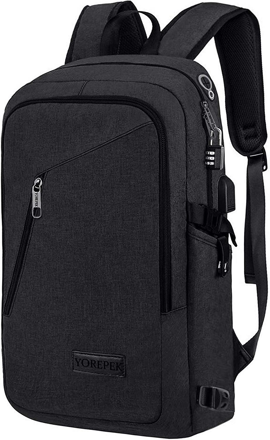 HZZ New Simple USB Charging Backpack Men and Women Casual Business Computer Bag Student Bag Backpack