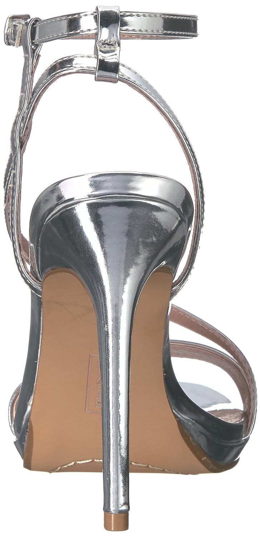 STEVEN by Steve Madden Frauen Rees Offener Zeh Besonderer Anlass US/40 Knoechel Riemen Sandalen Silber Groesse 9 US/40 Anlass EU - b82a38