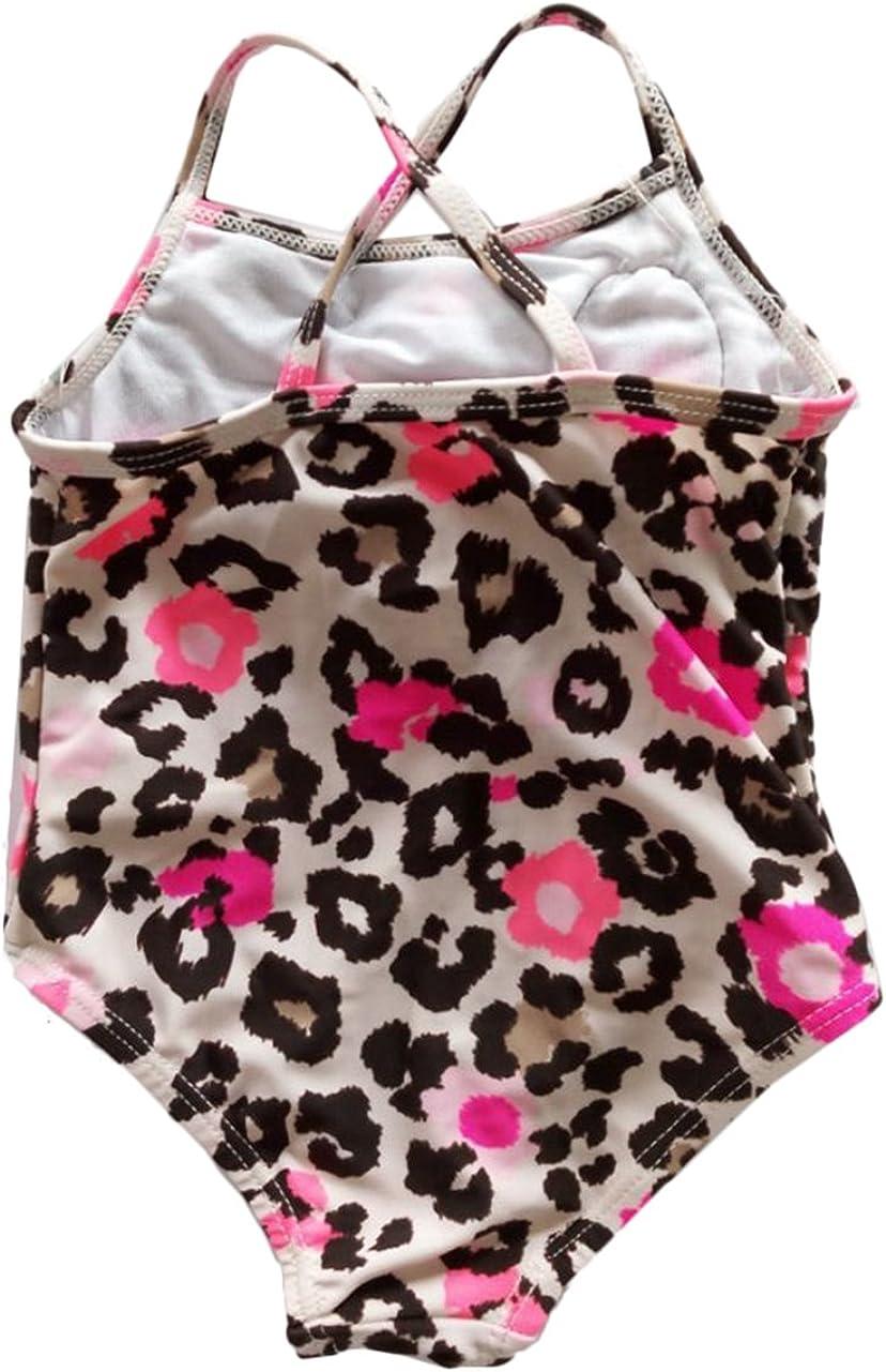 Infant Baby Girls Swimwear One Piece Ruffle Rose Swimsuit