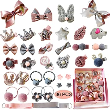 Cute Hair Clips Silver Accessories Fashion Kids Bday Set Gift For Little Girls