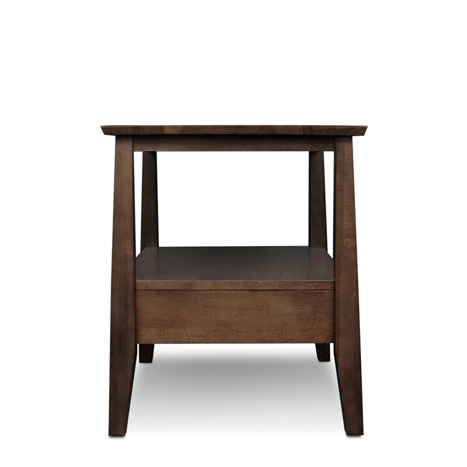 Amazoncom Leick Delton End Table with Drawer Kitchen Dining