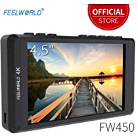 "Feelworld FW450 Kamera Feld Monitor 4.5"" 4K Ultra HD 1280x800 LCD IPS Bildschirm 16:10 mit HDMI für DSLR Camera Sony Canon Nikon Olympus Pentax Panasonic"