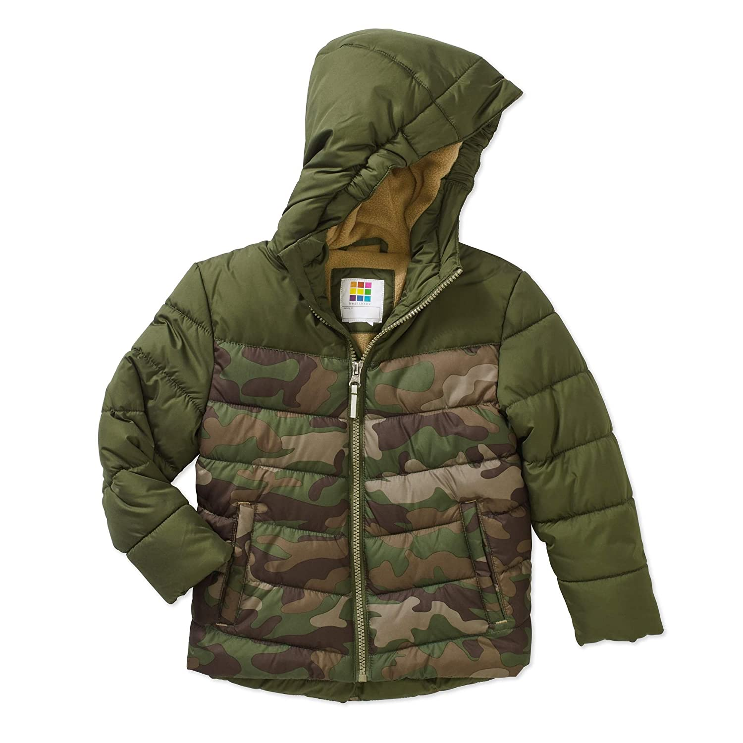 Healthtex Baby Toddler Boy Bubble Puffer Sea Turtle Green Camo Jacket