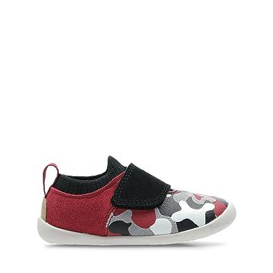 1076c79d4d6 Clarks Roamer Seek Toddler Suede Shoes in Red Combi Standard Fit Size 2