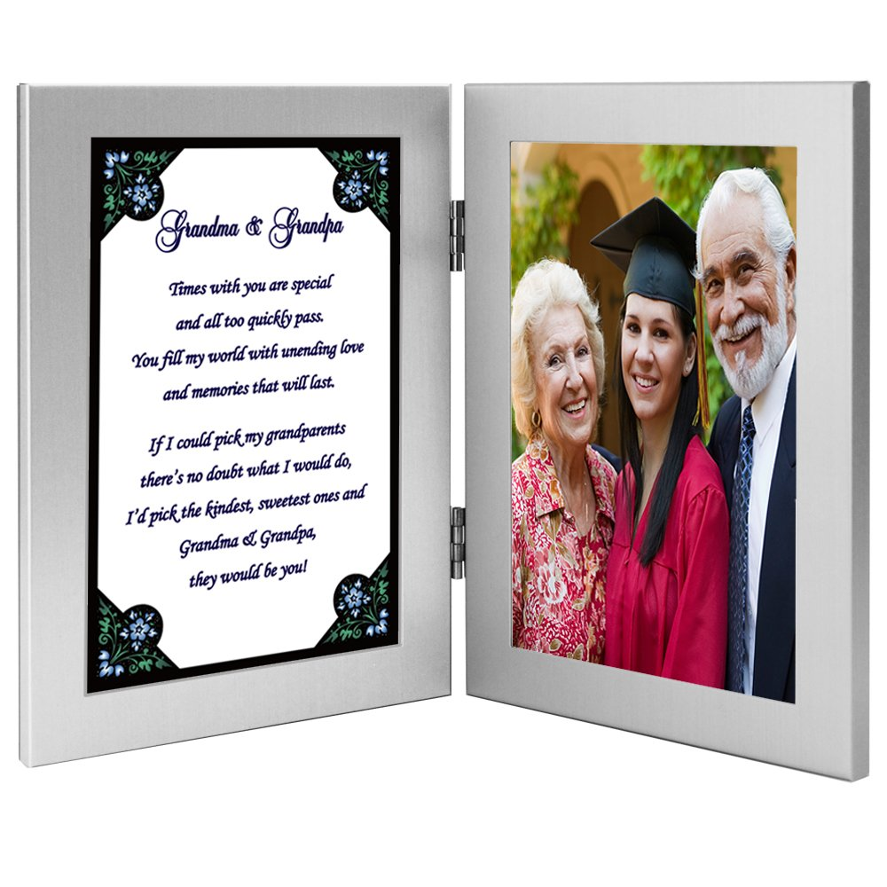 Gift for Grandma and Grandpa - Cute Poem in Double Frame - Add Photo by Poetry Gifts (Image #2)