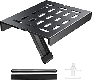 Mounting Dream Adjustable TV Top Shelf Mount Holder for Fire TV, Apple TV, Roku 3 Streaming Media Player, Easy to Install Streaming Media Box TV Shelf Top Mount , MAX Loading 11 lbs. MD5605, Black