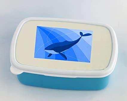 Simple de dibujo de ballena azul caja de almuerzo