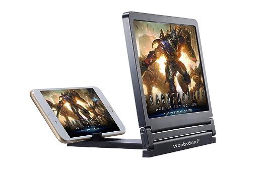 wonbsdom teléfono pantalla lupa (negro) HD Movie Video amplificador para iPhone 7/7