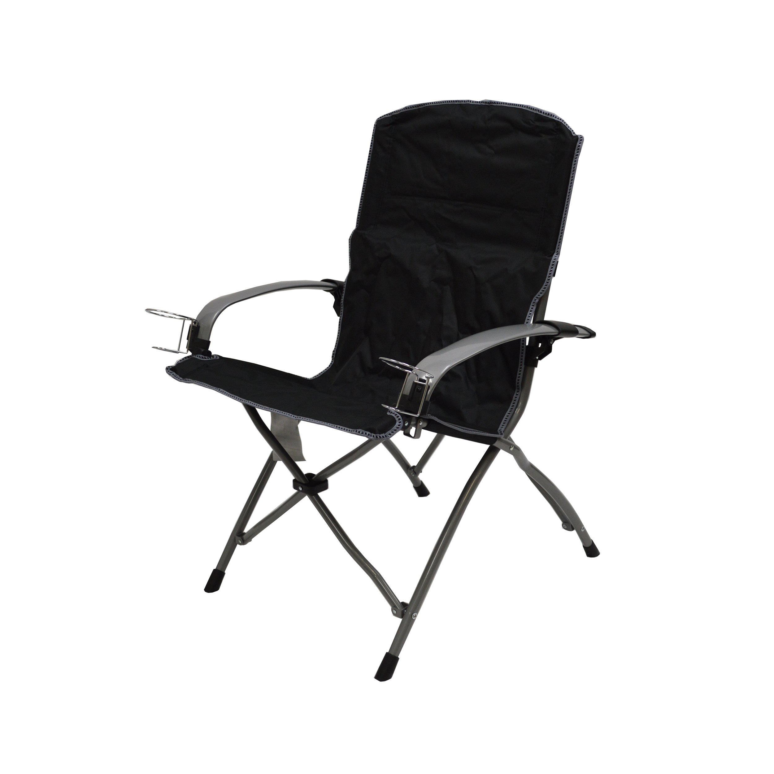 Mac Sports The Commander Folding Armchair (Black)