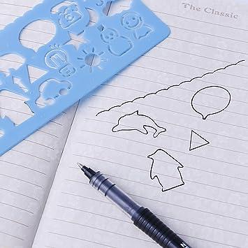 4pcs Plastic Animals Vehicles Instruments Stencil Set For Children Art  Drawing