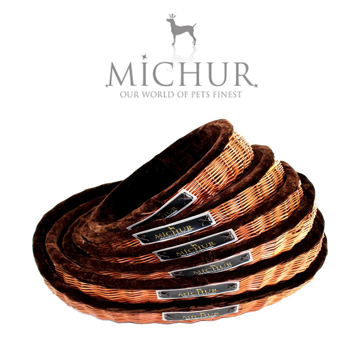 MICHUR LOUNGE, willow dog cat bed, basket
