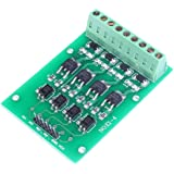 Icstation 4 Channel MOSFET Transistor TTL PWM Drive Control Switch Optocoupler Isolation Board for Arduino AVR PLC