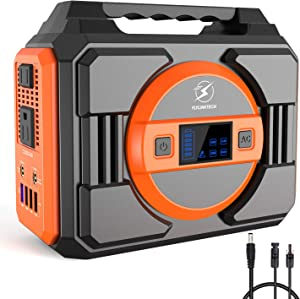 FLYLINKTECH 300W Portable Power Station, 75000mAh 277.5Wh Solar Generator for Home Use CPAP Outdoor Camping, Emergency Backup Lithium Battery Power Supply with 2 AC Outlets 2 DC 4 USB Ports