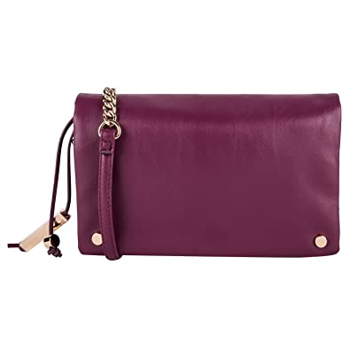 e4fe7fdd8f Dot Dash Grey or Burgundy Clutch Purse with Crossbody Shoulder Strap ...