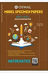 Model Specimen Papers for Mathematics: ICSE Class 10 for 2020 Examination Kindle Edition