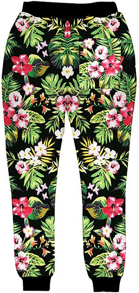 RFCXASN Pantaloni della Tuta Jogging 3D Arcobaleno Circle Stampa Completa Pantaloni Uomo Donna Harajuku Pantaloni