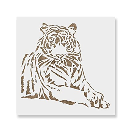 Tiger Stencil Template For Walls And Crafts Reusable