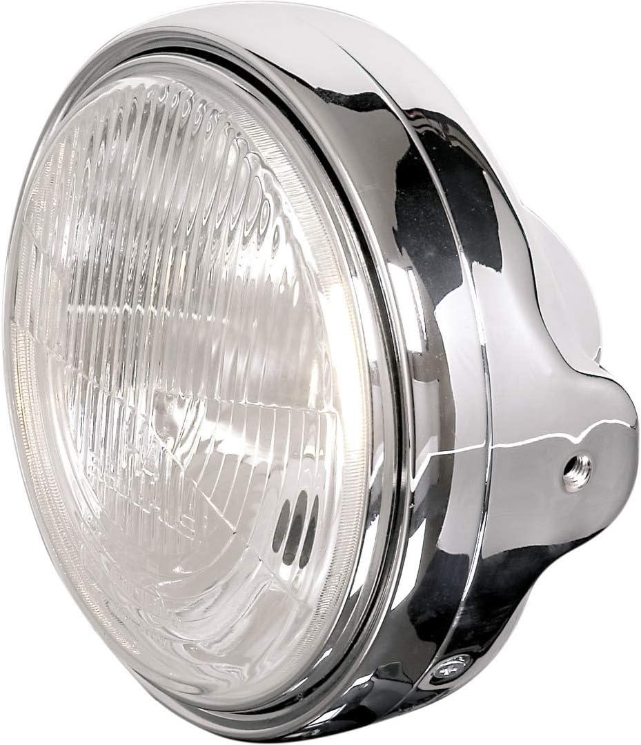 runde Loecher H4 Klarglas LTD-Chromscheinwerfer