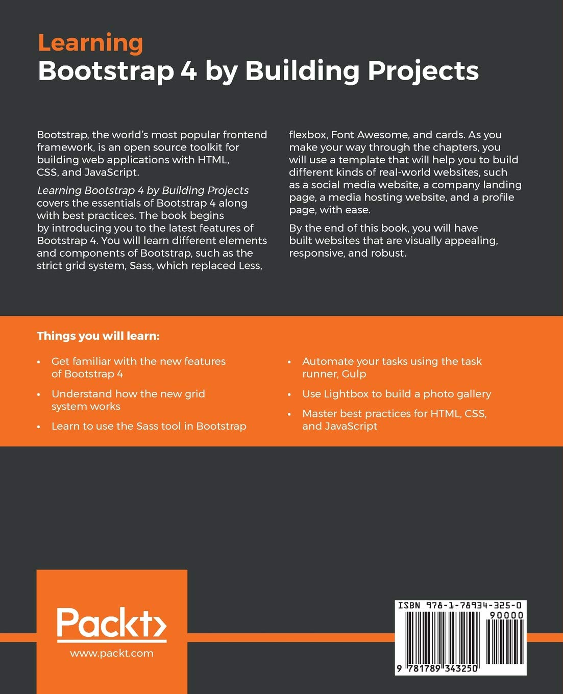 Buy Learning Bootstrap 4 by Building Projects: Develop 5