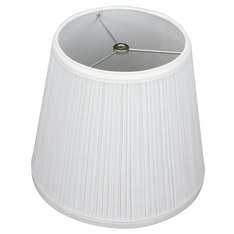 FenchelShades.com 7'' Top Diameter x 10'' Bottom Diameter 9'' Slant Height Lampshade USA Made (Pleated White)