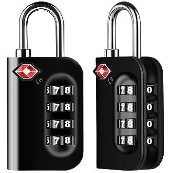 Diyife TSA Equipaje cerraduras, versión [Juego de 2] con 4 dígitos candado de