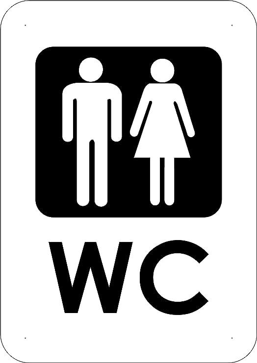 Señal Baños WC 21x14,8cm | Señalítica en Material PVC ...