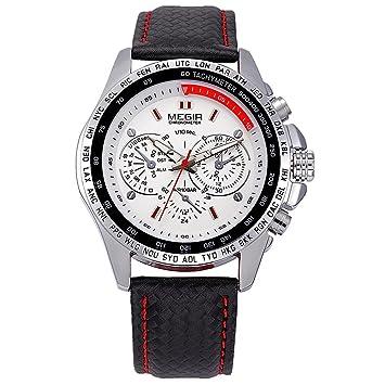 Hombres Relojes Reloj De Cuarzo Reloj Correa De Cuero Hombre Reloj Hombre , white