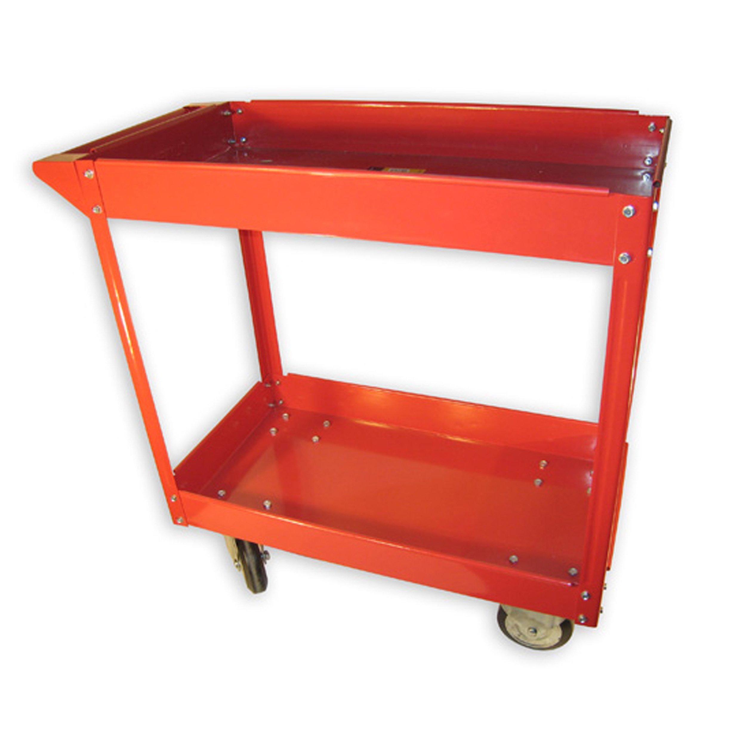 Olympia Tools 85-184 600 Lb. Capacity, 2 Shelf Steel Cart