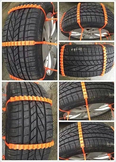 5 Unds de bridas de plastico para circular por nieve cadenas de nieve para ruedas: Amazon.es: Coche y moto
