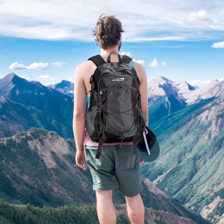 Promover 35L Mochila de Senderismo Ligera Mochilas al Aire Libre Resistentes al Agua con Cubierta de Lluvia Mochilas Ligeras para Viajes Camping Escalada Trekking