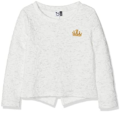 3 Pommes Sweat Shirt, Sudadera Niñas, Blanco (Bleu Broken White 19),