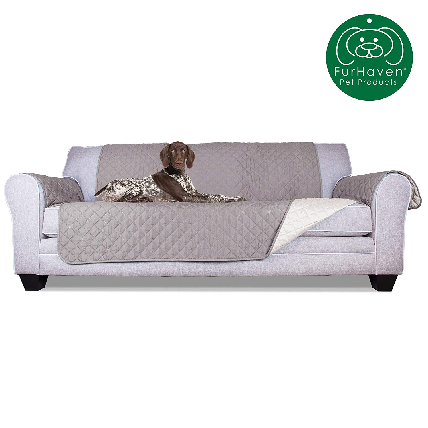 Magnificent Furhaven Pet Furniture Cover Two Tone Reversible Water Resistant Quilted Living Room Furniture Cover Protector Pet Bed For Dogs Cats Available Machost Co Dining Chair Design Ideas Machostcouk