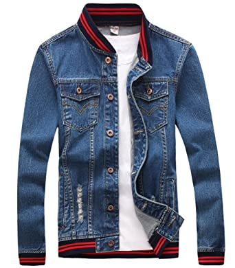 LifeHe Men's Casual Classic Jean Jacket Coat at Amazon Men's ...