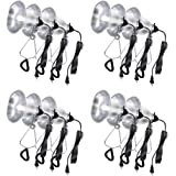 Simple Deluxe 12-PackClamp Lamp Light with 5.5 Inch Aluminum Reflector up to 60 Watt E26 (no Bulb Included) 6 Feet Cord UL Listed
