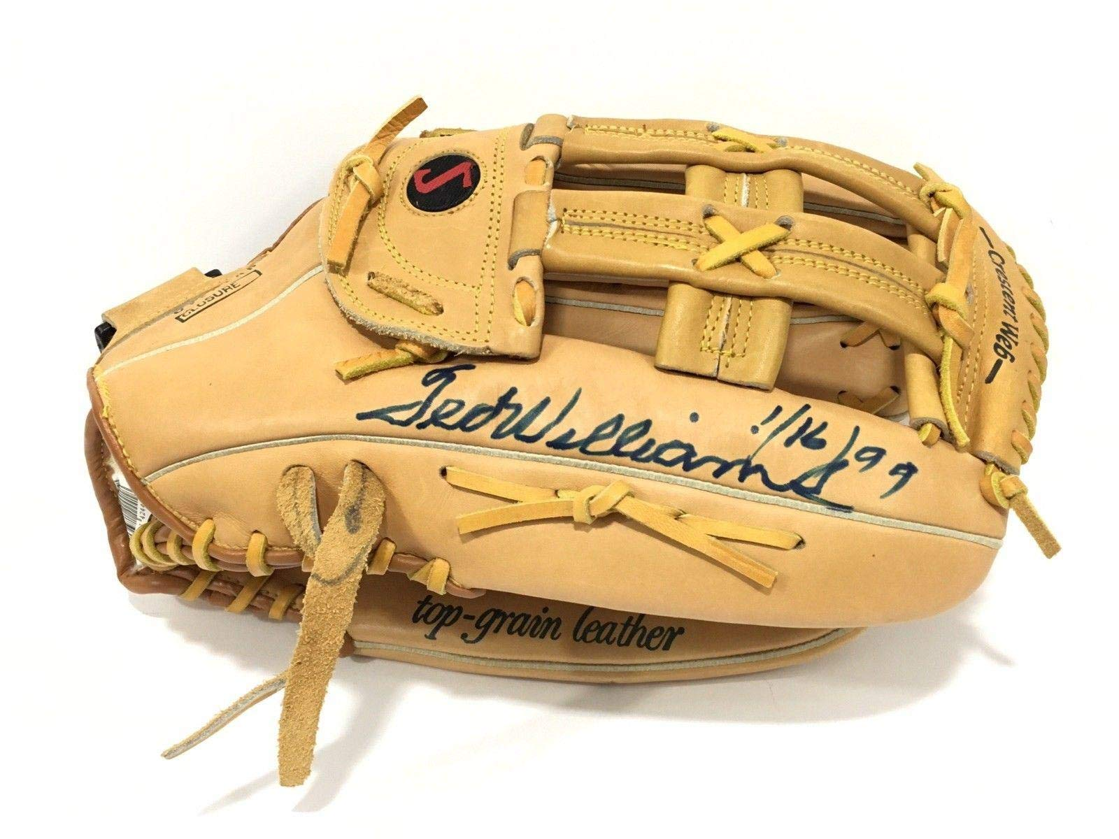 Ted Williams Signed Spalding Baseball Glove Framed LOA Boston Red Sox JSA Certified Autographed MLB Gloves
